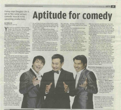 Aptitude for comedy – The Star, Star2 2011