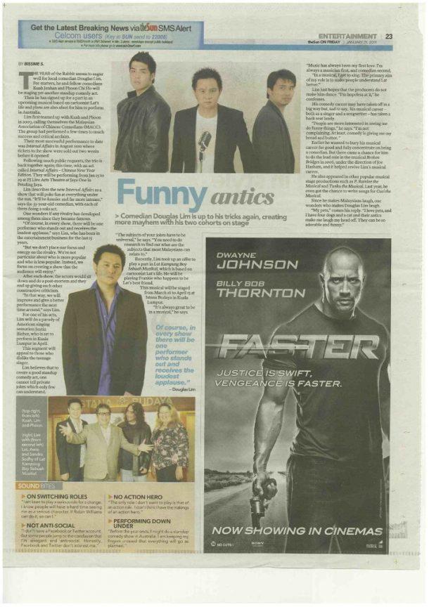 Funny antics – The Sun 2011