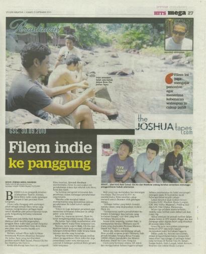 Filem indie ke panggung – Utusan 2010