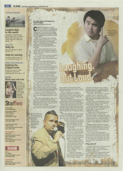 Laughing Out Loud – The Star, Starmag 2011