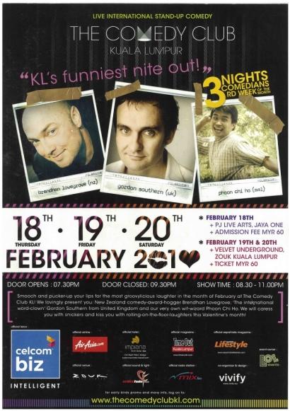 (DONE) The Comedy Club Kuala Lumpur