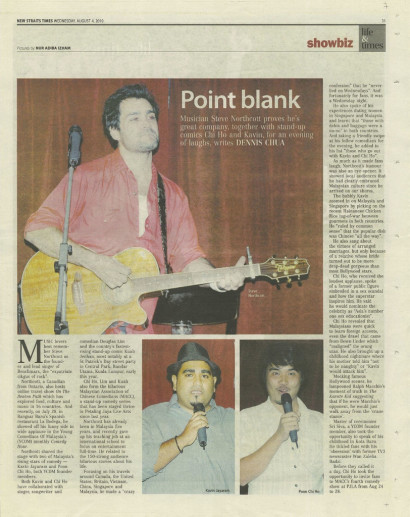 Point Blank – The New Straits Times 2010