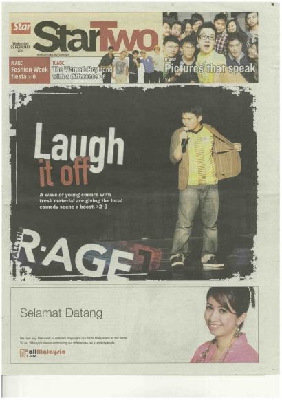 Laugh It Off – The Star R.Age 2011